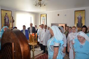 Молебен в День медицинских работников