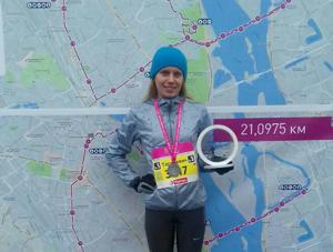 Покорительница киевского марафона